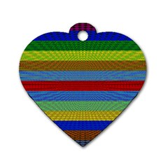Pattern Background Dog Tag Heart (two Sides)