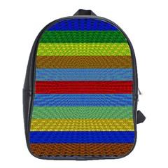 Pattern Background School Bags (xl)