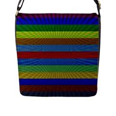 Pattern Background Flap Messenger Bag (l)
