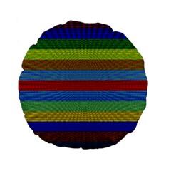 Pattern Background Standard 15  Premium Flano Round Cushions
