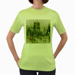 Santa Claus Nicholas Women s Green T Shirt