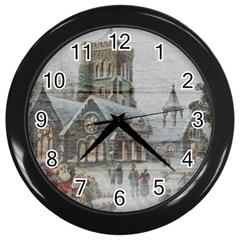 Santa Claus Nicholas Wall Clocks (black)