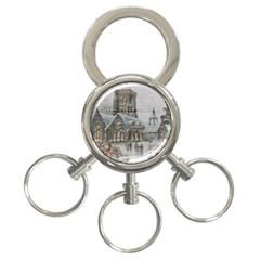Santa Claus Nicholas 3 Ring Key Chains