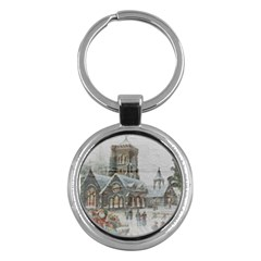 Santa Claus Nicholas Key Chains (round)