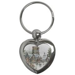 Santa Claus Nicholas Key Chains (heart)