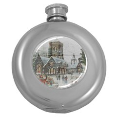 Santa Claus Nicholas Round Hip Flask (5 Oz)