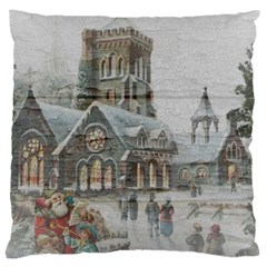 Santa Claus Nicholas Large Cushion Case (one Side)