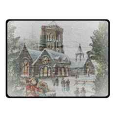 Santa Claus Nicholas Double Sided Fleece Blanket (small)