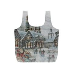 Santa Claus Nicholas Full Print Recycle Bags (s)