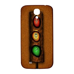 Traffic Light Green Red Yellow Samsung Galaxy S4 I9500/i9505  Hardshell Back Case