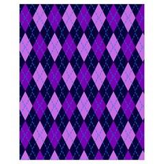 Tumblr Static Argyle Pattern Blue Purple Drawstring Bag (small)