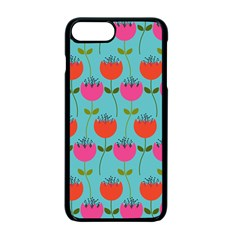 Tulips Floral Flower Apple Iphone 7 Plus Seamless Case (black)