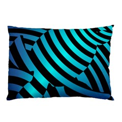 Turtle Swimming Black Blue Sea Pillow Case (Two Sides)