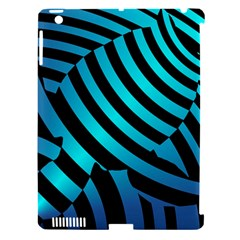 Turtle Swimming Black Blue Sea Apple iPad 3/4 Hardshell Case (Compatible with Smart Cover)