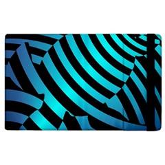 Turtle Swimming Black Blue Sea Apple iPad 2 Flip Case