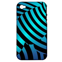 Turtle Swimming Black Blue Sea Apple iPhone 4/4S Hardshell Case (PC+Silicone)