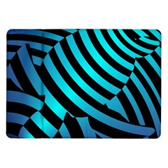 Turtle Swimming Black Blue Sea Samsung Galaxy Tab 10.1  P7500 Flip Case
