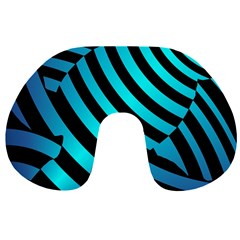 Turtle Swimming Black Blue Sea Travel Neck Pillows