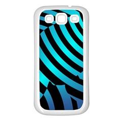 Turtle Swimming Black Blue Sea Samsung Galaxy S3 Back Case (White)