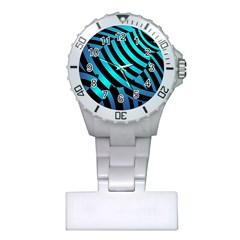 Turtle Swimming Black Blue Sea Plastic Nurses Watch