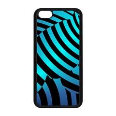 Turtle Swimming Black Blue Sea Apple iPhone 5C Seamless Case (Black)