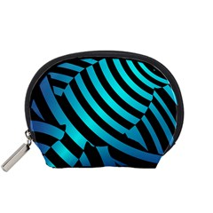 Turtle Swimming Black Blue Sea Accessory Pouches (Small)