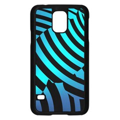 Turtle Swimming Black Blue Sea Samsung Galaxy S5 Case (Black)