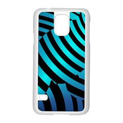 Turtle Swimming Black Blue Sea Samsung Galaxy S5 Case (White)