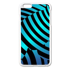 Turtle Swimming Black Blue Sea Apple iPhone 6 Plus/6S Plus Enamel White Case