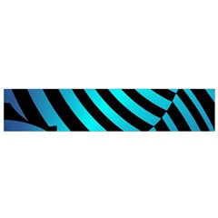 Turtle Swimming Black Blue Sea Flano Scarf (Small)