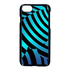 Turtle Swimming Black Blue Sea Apple iPhone 7 Seamless Case (Black)