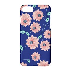 Seamless Blue Floral Apple Iphone 7 Hardshell Case