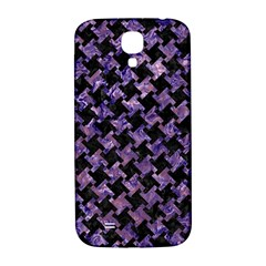 Houndstooth2 Black Marble & Purple Marble Samsung Galaxy S4 I9500/i9505  Hardshell Back Case
