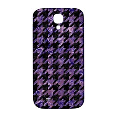 Houndstooth1 Black Marble & Purple Marble Samsung Galaxy S4 I9500/i9505  Hardshell Back Case