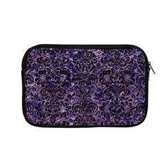 Damask2 Black Marble & Purple Marble (r) Apple Macbook Pro 13  Zipper Case