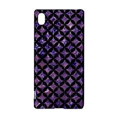Circles3 Black Marble & Purple Marble (r) Sony Xperia Z3+ Hardshell Case