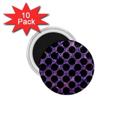 Circles2 Black Marble & Purple Marble (r) 1 75  Magnet (10 Pack)