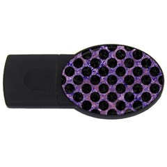 Circles2 Black Marble & Purple Marble (r) Usb Flash Drive Oval (2 Gb)