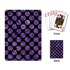 Circles2 Black Marble & Purple Marble Playing Cards Single Design