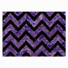 Chevron9 Black Marble & Purple Marble (r) Large Glasses Cloth