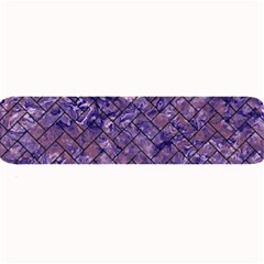 Brick2 Black Marble & Purple Marble (r) Large Bar Mat