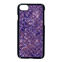 Brick2 Black Marble & Purple Marble (r) Apple Iphone 7 Seamless Case (black)
