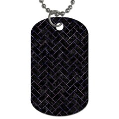 Brick2 Black Marble & Purple Marble Dog Tag (one Side)