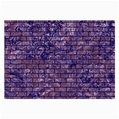 Brick1 Black Marble & Purple Marble (r) Large Glasses Cloth