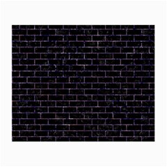 Brick1 Black Marble & Purple Marble Small Glasses Cloth