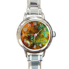 Mixed Abstract Round Italian Charm Watch
