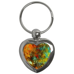 Mixed Abstract Key Chains (heart)