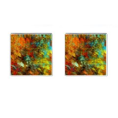 Mixed Abstract Cufflinks (square)