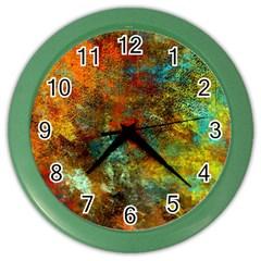 Mixed Abstract Color Wall Clocks