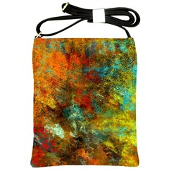 Mixed Abstract Shoulder Sling Bags